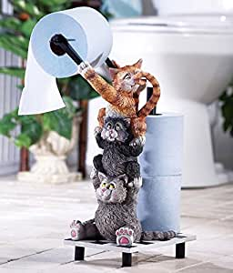 Climbing Cats Novelty Toilet Paper Holder Amazon Com