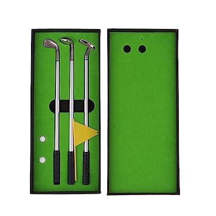 IPOTCH Juego de Mini Golf con 3 Bolígrafos en Forma de Palo ...