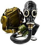 Genuine Original Soviet Russian Black gas mask GP-5 with black hose Surplus USSR