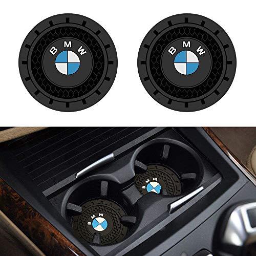 """Soondar 2Pcs Car Interior Anti Slip Cup Mat for BMW 1 3 5 7 Series F30 F35 320li 316i X1 X3 X4 X5 X6 (2.75"""")"""
