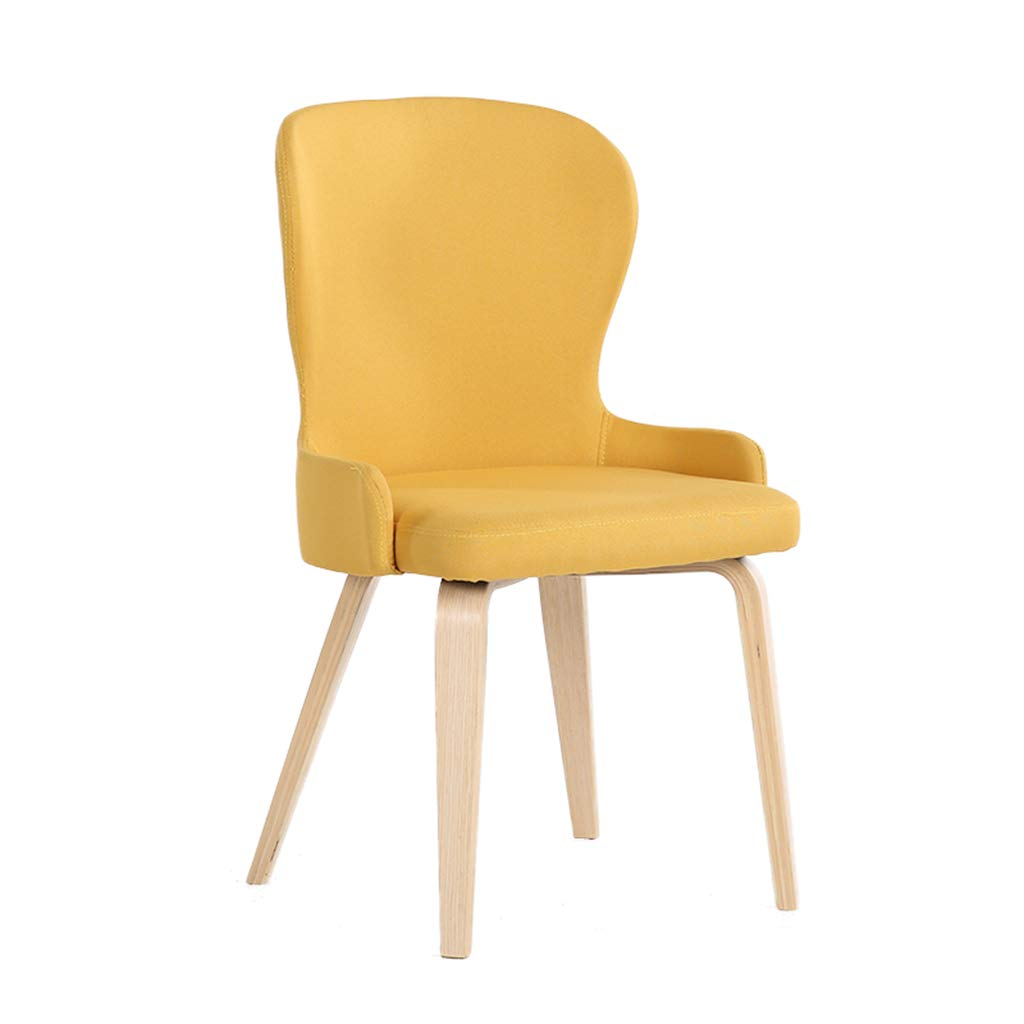 Yellow Tiao ZHAN Solid Wood bar Stool Dining Chair Conference Table and Chairs Coffee Lounge Chair Home Bedroom Fabric Balcony Chair H97cm (color   Green)