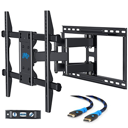 Mounting Dream MD2126-24 TV Wall Mount Bracket with Full Motion Articulating Arms for most 42-70'' LED, LCD, OLED and Flat screen TVs up to VESA 600 x 400mm and 100 lbs. Fits 16-24'' Wood Studs Apart.