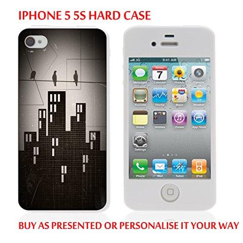 gc106_ iph55s iPhone 55S Coque rigide pour tablette Noir Town–Graphic Design personnalisé avec votre texte personnalisé fabriqué et vendu par cm