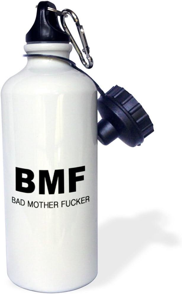 "3dRose wb_223156_1""BMF BAD MOTHER FUCKER"" Sports Water Bottle, 21 oz, White 51YQ67QrzLL"