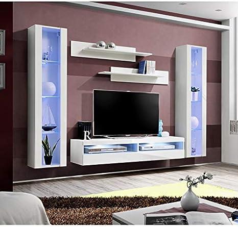 Asm Ensemble Meuble Tv Mural Fly O12 260 X 40 X 190 Cm