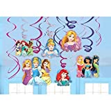 Disney Princess Dream Big Party Foil Hanging Swirl Decorations /...
