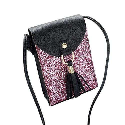 Bag Crossbody Women Phone Cover Bag Body SOMESUN Shoulder Sequins Black Bag Handbag Bag Cross Fashion Tassels vqgzf