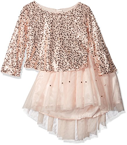 Price comparison product image Biscotti Little Girls' Filigree Splendor Sequin Top and Netting Skirt Set, Pink, 6