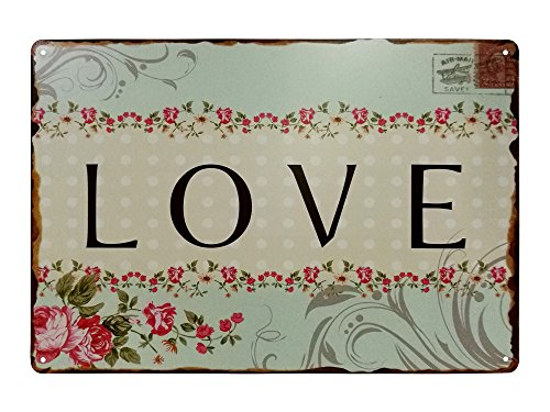 VASTING ART Decorative Signs Tin Metal Iron Sign Painting Love For Wall Home Office Bar Coffee - Tin Art Recycled