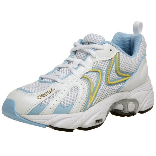 Aetrex Women's Z581W Zoom Runner Running Shoe,White/Blue,12 M US by Aetrex