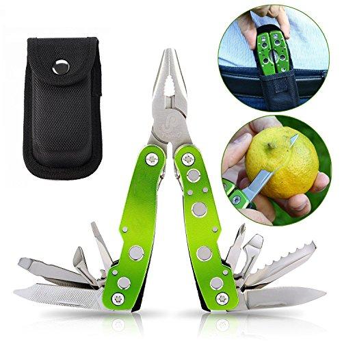 Jetfix Multi-Tool Folding Pliers - Knife, Sheath Saw, Bottle Opener, Screwdriver Bit, Case & more
