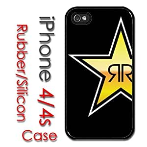 iPhone 4 4S Rubber Silicone Case - Rockstar Energy Rock Star yellow star