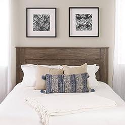Bedroom Prepac Select Queen Flat Panel Headboard Drifted Gray farmhouse headboards