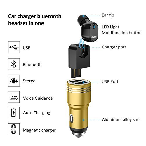 NENRENT-S610-Bluetooth-Earbud-Smallest-Mini-V41-Wireless-Bluetooth-Headset-Headphone-Earphone-with-Car-Charger-Mic-Hands-Free-Calls-for-iPhone-iPad-Samsung-Galaxy-LG-HTC-and-Smartphones-Black