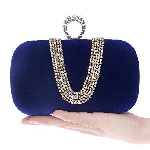 HAPPYTIMEBELT - Cartera de mano para mujer azul real