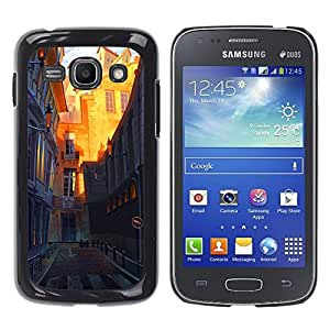 Planetar® ( Street Sunny Architecture Town Old ) Samsung Galaxy Ace 3 III / GT-S7270 / GT-S7275 / GT-S7272 Fundas Cover Cubre Hard Case Cover