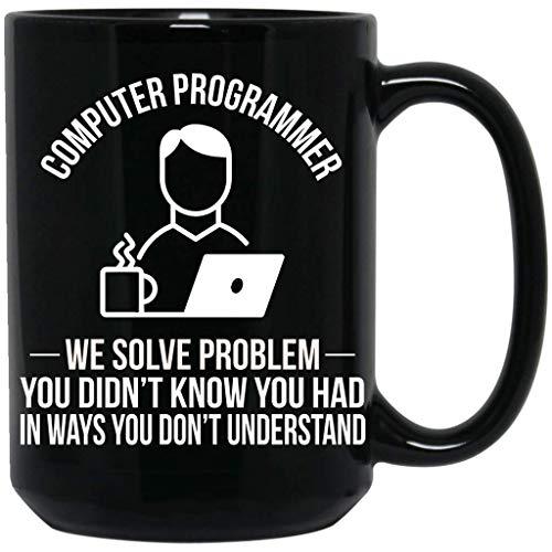 Computer Programmer, I Will Not Fix,Geeky Windows, Funny Computer Nerd Gift Black Mug