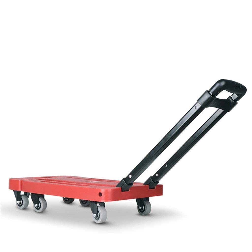 Zehaer Portable Trolley, Trolley Van Mini Trailer Hand Truck Small Cart Pull The Truck Folding Portable Trolley Household Microtake (Color : C) (Color : D)