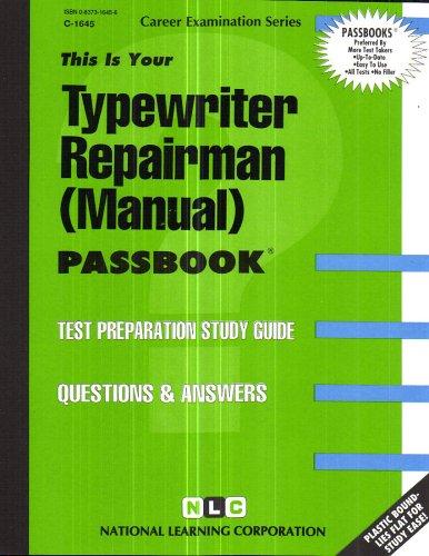 Typewriter Repairman (Manual)(Passbooks)