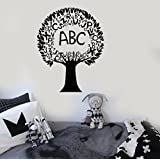 Large Vinyl Wall Decal Tree Alphabet Nursery Elementary School Language Stickers (ig3535) Black