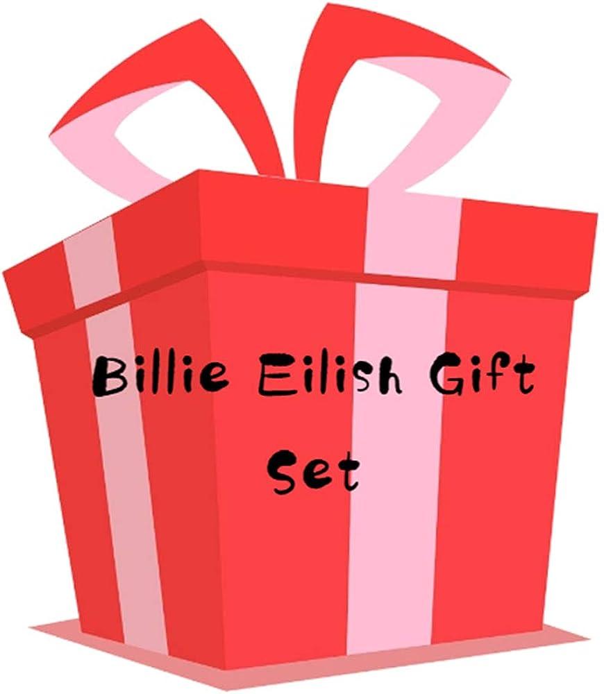 Billie Eilish Merch,Bag+Poster+Blacelet+Keychain+Necklace+Phone Holder+Brooch+Stickers