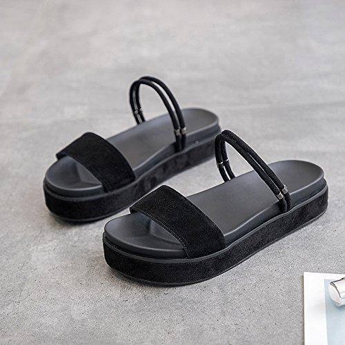 Maneras de de Planas Usar Dos Vintage Moda Sandalias QQWWEERRTT Plataforma Universal Student negro FwYOYq