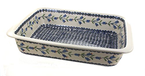 Polish Pottery Tulip Large Rectangular Baker