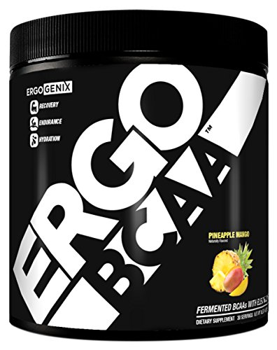 Ergogenix BCAA Branched Chain Amino Acids Recovery Hydration Endurance Powder 258g 30 Servings (Pineapple Mango Flavor)