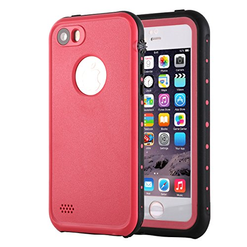 iPhone SE Waterproof Case, Pandawell™ IP-68 Full-Body Protection Dirt poof Shockproof Snow proof Waterproof Case Cover for Apple iPhone SE / 5S (Trade Phone)