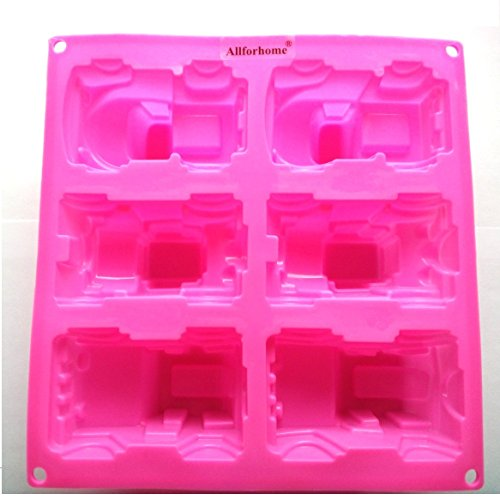 Allforhome(TM) 6 Truck Jeep Car Shape Handmade Soap Molds Silicone Cake Baking Molds Cake Pan Muffin Cups Polymer Clay Jelly DIY mold