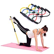 Kasstino Useful Fitness Equipment Tube Workout Exercise Elastic Resistance Band For Yoga
