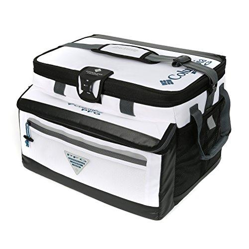 Columbia PFG Brewha 38 Can Family Size Zipperless Hardbody Thermal Pack, White