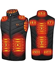JOYTEK Heated Vest for Men Women, Electric Heated Jacket with 11 Heating Pads for Hunting fishing outdoor(No Battery)