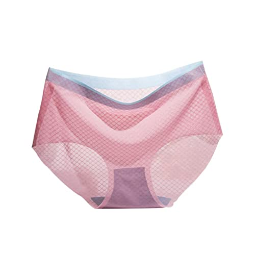 Zhuhaixmy Girls Mujer Cintura baja Respirable Ropa interior Seda Sin Costura Calzoncillos Mesh Thin ...