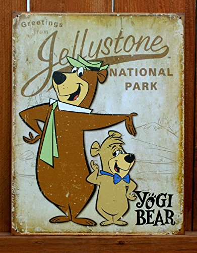 Yogi Bear - Jellystone Park Tin Sign 13 x 16in