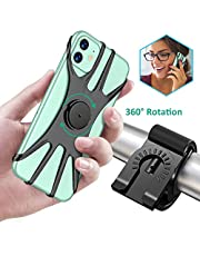 Cocoda Bike Phone Holder, 360??Rotation Adjustable Detachable Bike Phone Mount for Bicycle/Motorcycle Handlebars, Fit for iPhone 11 Pro Max/11 Pro/11/XS/XS Max/XR/8/7, Samsung S20/S10 Plus/S10/S10e/S9
