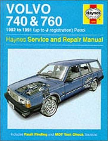 Volvo 740 and 760 (Petrol) 1982-91 Service and Repair Manual (Haynes Service and Repair Manuals): M.K. Minter: 9781859600818: Amazon.com: Books