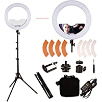 GINSON 18 inch 240 LED Ring Light Mirror Make Up Beauty Light with Stand for Wedding Photography, Beauty Light, Night Video