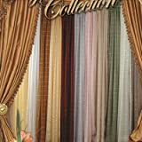 Violet Linen Royal Plaid Sheer Scarf, 40″ x 216″, White For Sale