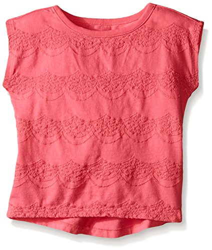 Crazy 8 Little Girls' Toddler Pink Eyelet Top, Pink Gloss, 3 (Gloss Eyelet)