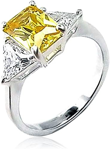 Amazing Emerald Cut 2 Ct Mystic Topaz 925 Sterling Silver Ring Taille 5-10
