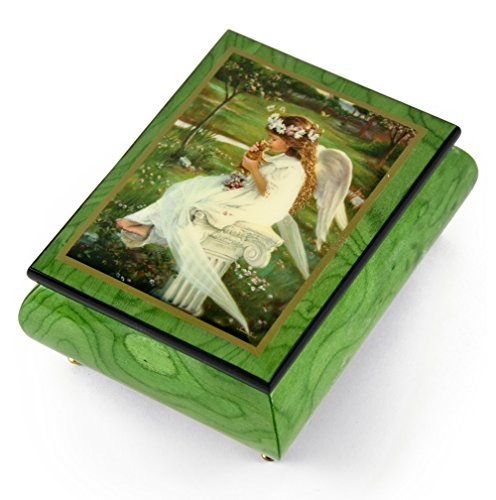 Handcrafted Ercolano Music Box Featuring Kitten Kisses by Sandra Kuck - Over 400 Song Choices - Hark! The Herald Angels Sing ()