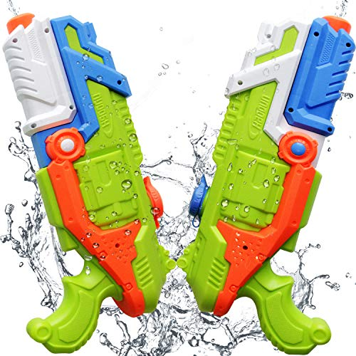ToyerBee Water Guns, 2 Packed Super Capacity(41oz) Water Blaster, Water Gun Pistol Shoots up to 35ft,Squirt Guns for Kids&Adult&Toddlers&Teenager, Best Water Toys in Swimming Pool, Beach
