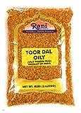 Rani Toor Dal (Split Pigeon Peas) Oily 8lbs (128oz) Bulk