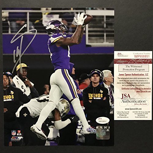e99d4bf52ff Autographed Signed Stefon Diggs Minnesota Vikings Miracle Catch 8x10  Football Photo JSA COA