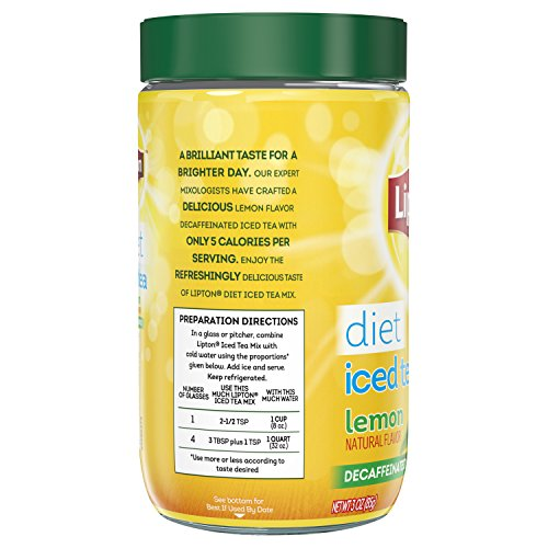 Lipton Iced Tea Mix, Diet Decaffeinated Lemon 10 qt (Pack of 4) by Lipton (Image #2)