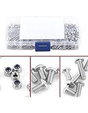 Knopschroeven, 280 stuks M3 roestvrij staal SS304 zeskant binnenzeskant schroeven en contramoeren assortiment