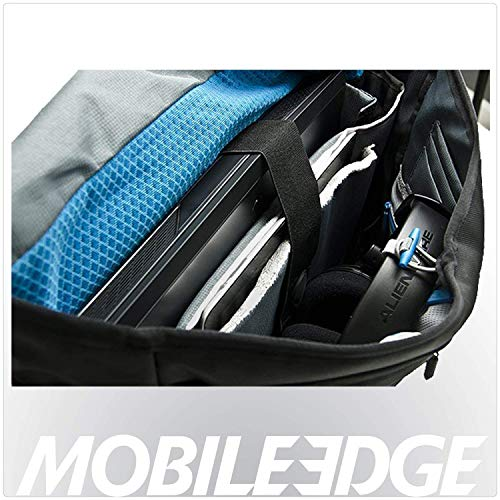 Alienware Vindicator 2.0 Gaming Laptop Messenger Bag, 13 inch/15 inch/17 Inch for Students, Gamers, Black/Teal Blue (AWV1317M2.0)