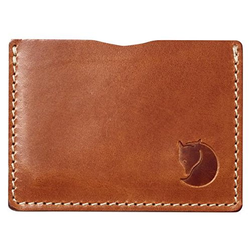 Ovik Card Fjallraven leather Marron Cognac Wallet ZTxUBwqS1