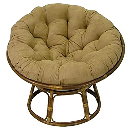 Delightful Rattan Papasan Chair With Cushion